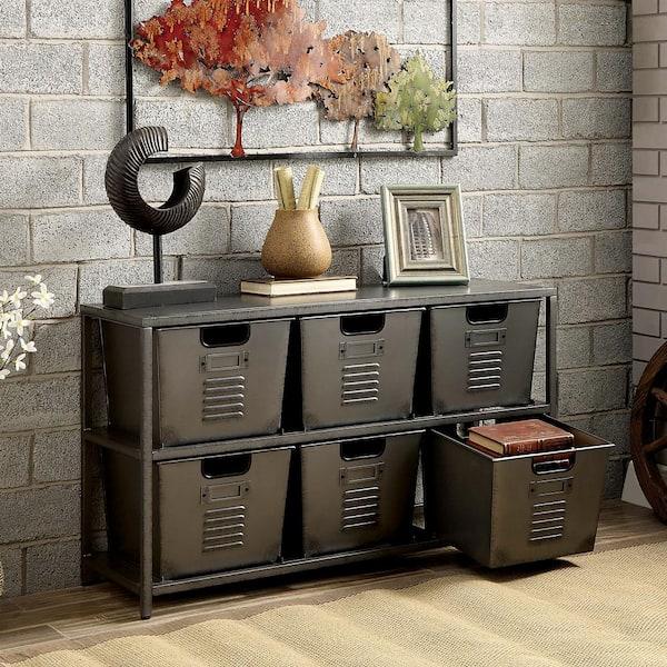 Furniture Of America Becca Metal, Office Storage Bins