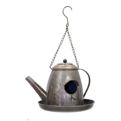 20 in. Tall Alpine Metal Tea Pot Birdhouse