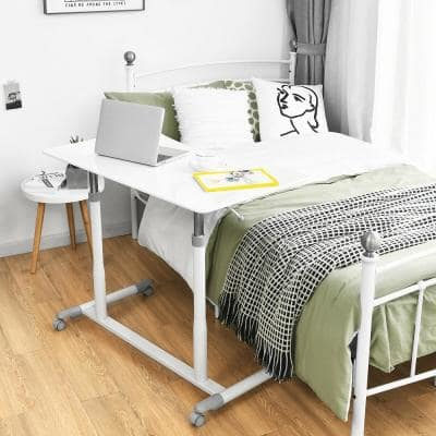 Height Adjustable 36 in. Computer Desk Sit-Stand Rolling Notebook Table Stand Portable