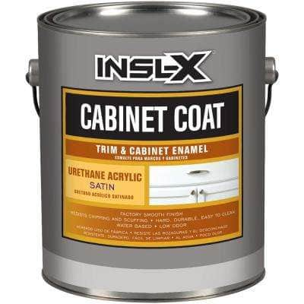 Insl-x Cabinet Coat Enamel, 1-Gal. Kit, White, Satin Sheen