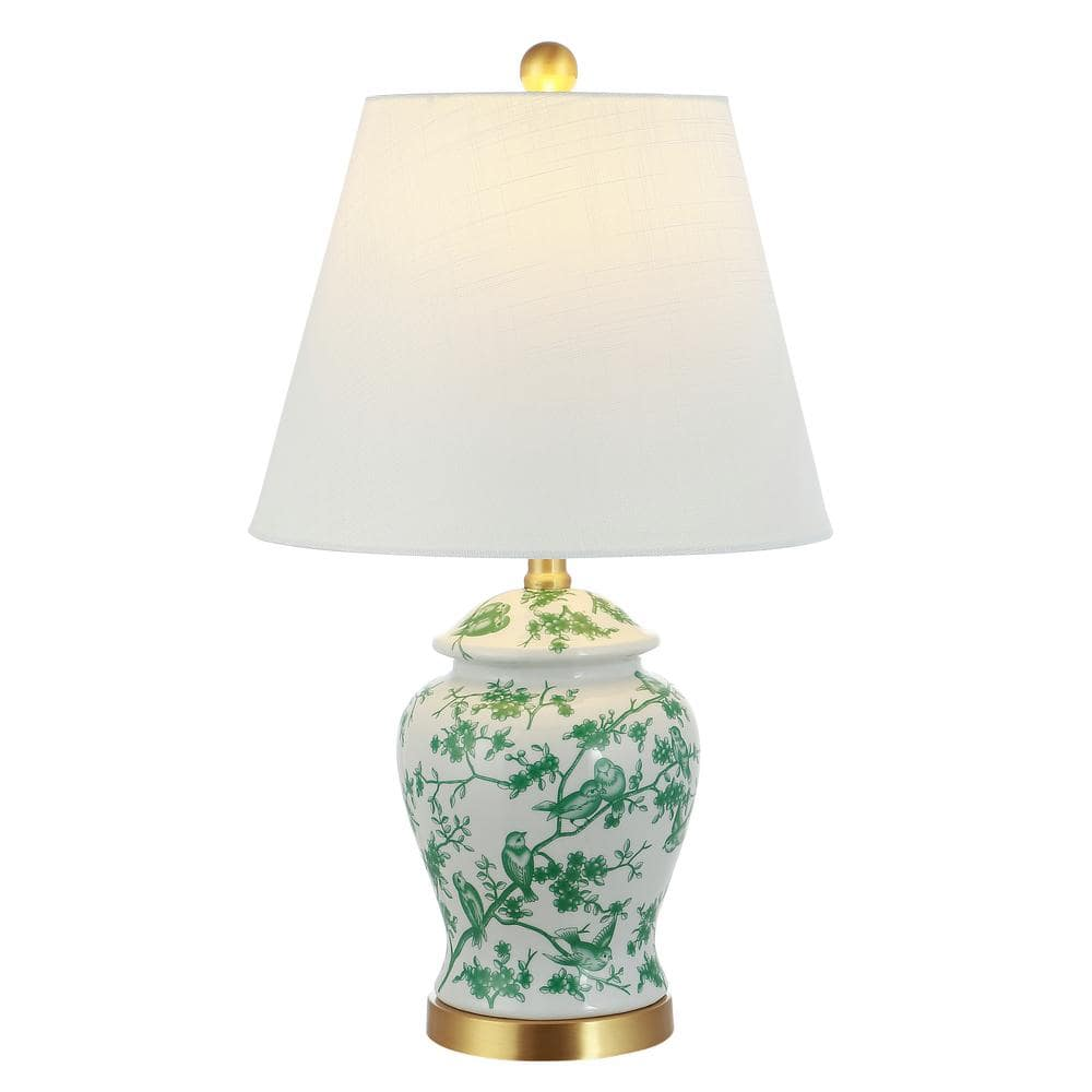 Reviews For Jonathan Y Penelope 22 In Green White Chinoiserie Classic Led Table Lamp Jyl3005b The Home Depot