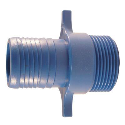 1 in. Polypropylene Blue Twister Insert x MPT