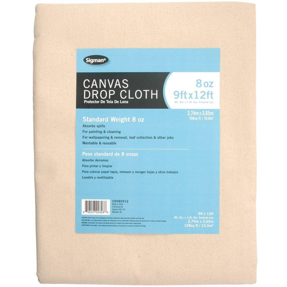 Sigman 8 ft. 6 in. x 11 ft. 6 in., 8 oz. Canvas Drop Cloth