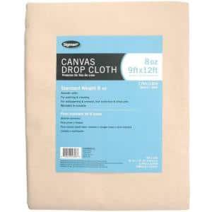 8 ft. 6 in. x 11 ft. 6 in., 8 oz. Canvas Drop Cloth