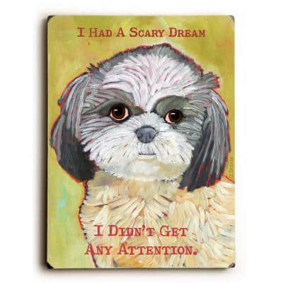 """9 in. x 12 in. """"I had a Scary Dream"""" by Ursula Dodge """"Solid Wood"""" Wall Art"""