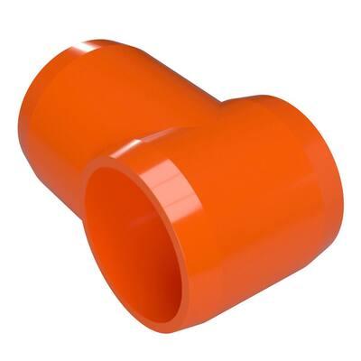 1-1/4 in. Furniture Grade PVC Slip Sling Tee in Orange (4-Pack)