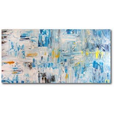 Beginnings Gallery-Wrapped Canvas Abstract Wall Art 48 in. x 28 in.