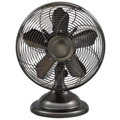 12 in. Oscillating Antique Personal Table Fan