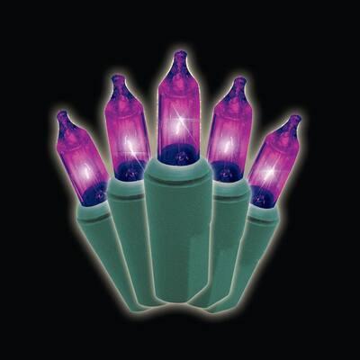 50-Light Designer Series Purple Mini Light Set (Set of 2)