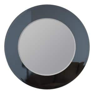 35 in. W x 35 in. H Frameless Round Beveled Edge Bathroom Vanity Mirror in Silver
