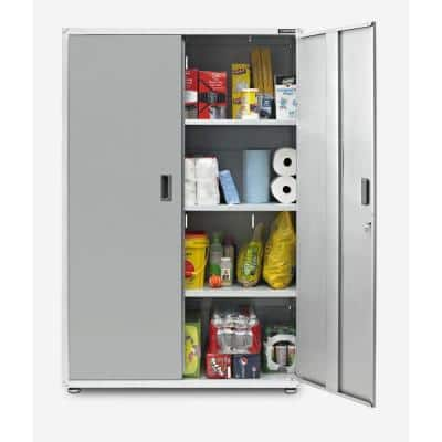 Ready-to-Assemble Steel Freestanding Garage Cabinet in White (48 in. W x 72 in. H x 18 in. D)