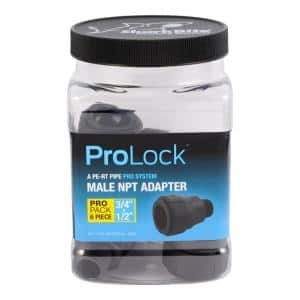 ProLock 3/4 in. x 1/2 in. Push-to-Connect x MIP Plastic Reducing Adapter Fitting Pro Pack (6-Pack)