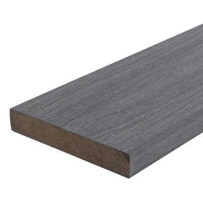 UltraShield Naturale Cortes 1 in. x 6 in. x 8 ft. Westminster Gray Solid Composite Decking Board