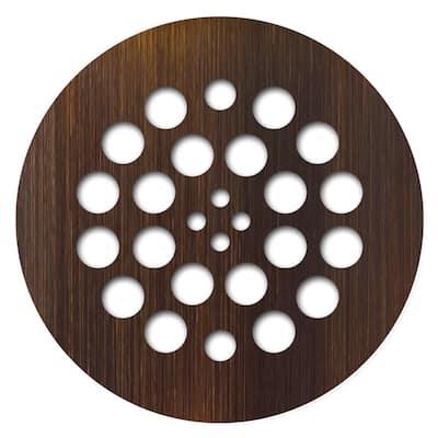 Redi Drain 4.25 in. x 4.25 in. Round Drain Plate in Oil Rubbed Bronze