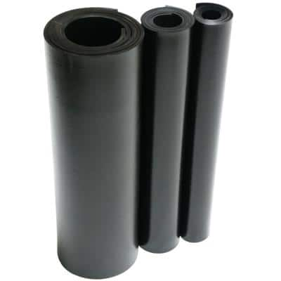 EPDM 1/8 in. x 36 in. x 24 in. Commercial Grade 60A Rubber Sheet - Black