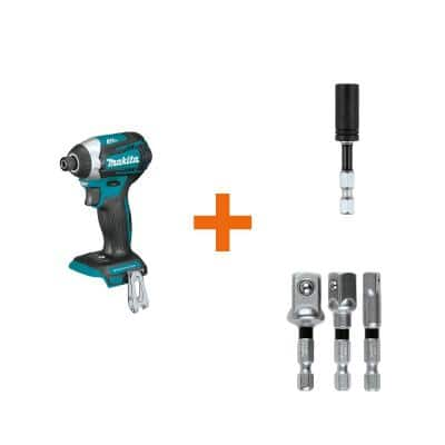 18-Volt LXT Brushless 3-Speed Impact Driver with ImpactXPS Insert Bit Holder and ImpactXPS 3 Pc. Socket Adapter Set