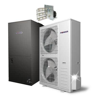 56,000 BTU 4.6 Ton 17.5 SEER Ducted Central Split Air Conditioner Heat Pump System