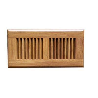 Carbonized 4 in. x 12 in. Strand Bamboo Vent Cover