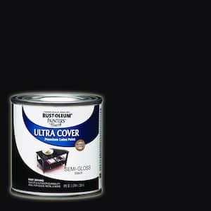 8 oz. Semi-Gloss Black General Purpose Paint