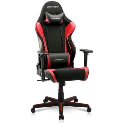 Raving Ergonomic Computer Home Office Desk Gaming Chair, Black and Red
