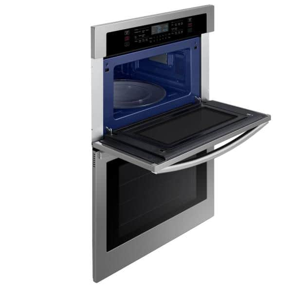 https www homedepot com p samsung 30 in 1 9 5 1 cu ft wi fi connected electric microwave combination wall oven in stainless steel nq70t5511ds 312457213