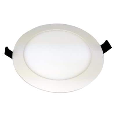 7 in. 12-Watts White Flushmount AC Driverless Dimmable Integrated Surface Mount LED Disc Light