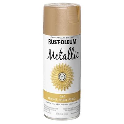 11 oz. Metallic Gold Spray Paint (3 Pack)