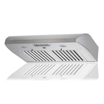 KOBE 30 in. 680 CFM Under Cabinet Range Hood in Stainless Steel with Flame and Temp Sensors