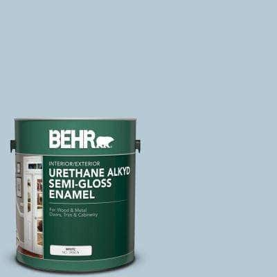 1 gal. #PPU14-15 Denim Light Urethane Alkyd Semi-Gloss Enamel Interior/Exterior Paint