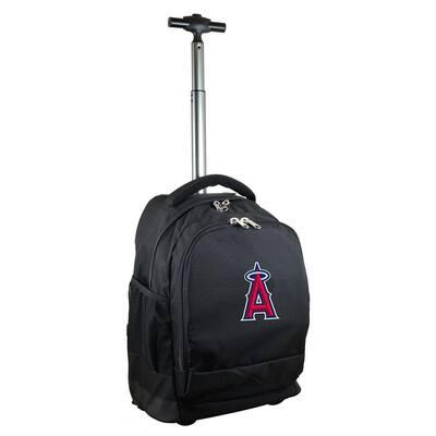 MLB Los Angeles Angels 19 in. Black Wheeled Premium Backpack