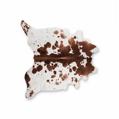 Kobe Salt and Pepper Brown/White 6 ft. x 7 ft. Cowhide Rug