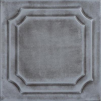 Virginian 1.6 ft. x 1.6 ft. Glue Up Foam Ceiling Tile in Moss Gray