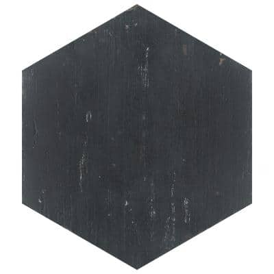 Retro Hex Nero 14-1/8 in. x 16-1/4 in. Porcelain Floor and Wall Tile (11.05 sq. ft. / case)