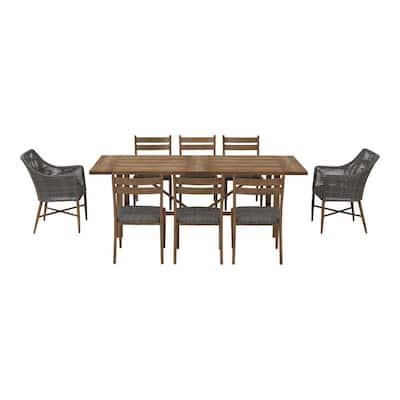 Crenshaw Park 9-Piece Wicker Outdoor Dining Set
