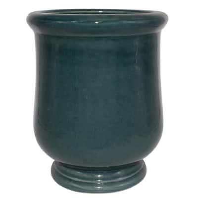 10.5 in. Blue Lugano Ceramic Urn