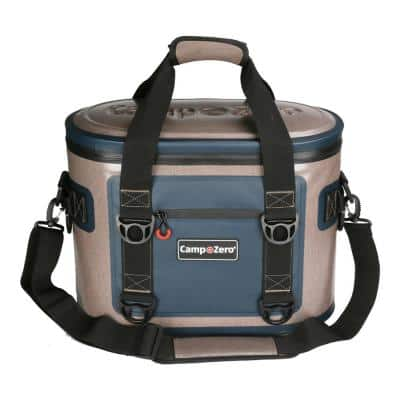 13.9 Qt. 20-Can Soft Cooler in Beige and Blue
