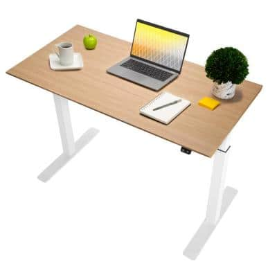 airLIFT 47 in. Birch Wood Steel Electric Sit-Stand Desk with Single Motor