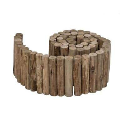 72 in. L x 6 in. H x 1.25 in. D Natural Eucalyptus Wood Solid Log for Landscaping Edging and Lawn Garden Fence Border