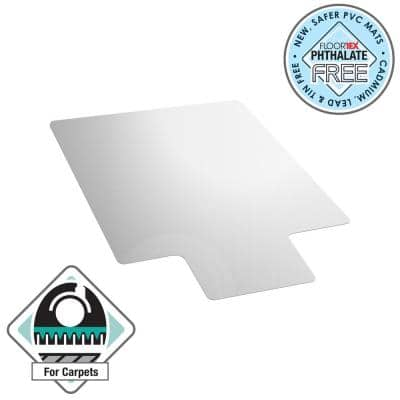 Advantagemat® Vinyl Lipped Chair Mat for Carpets up to 1/4 in. - 45 in. x 53 in.