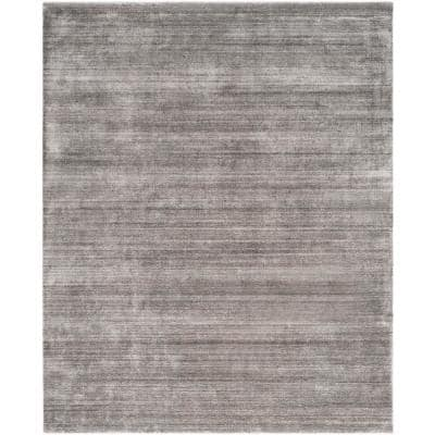 Mirage Stone 9 ft. x 12 ft. Solid Area Rug