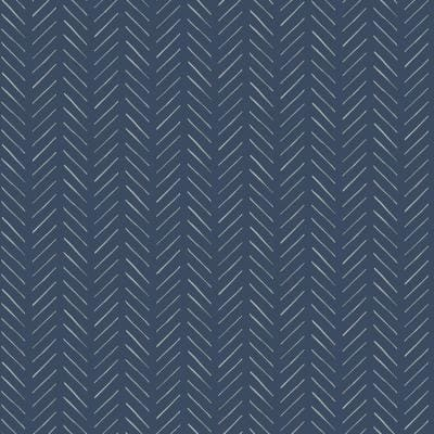 Pick-Up Sticks Blue Geometric Paper Pre-Pasted Strippable Wallpaper Roll (Covers 56 Sq. Ft.)