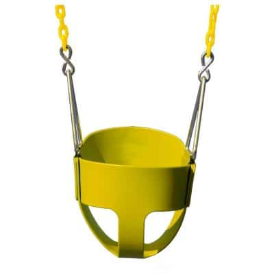 Full-Bucket Swing with Chain in Yellow