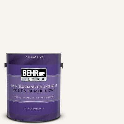 1 Gal. Ultra Pure White Ceiling Flat Interior Paint and Primer in One