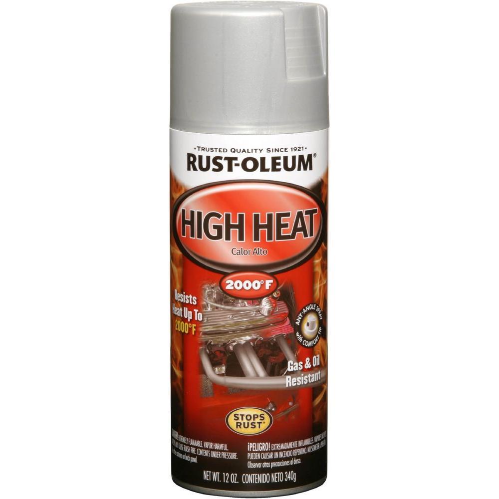 12 oz. High Heat Flat Aluminum Protective Enamel Spray Paint (6-Pack)