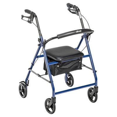 Rollator Rolling Walker with 6 in. Wheels, Blue
