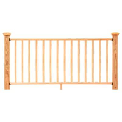 6 ft. Cedar-Tone Southern Yellow Pine Routed Rail Kit with SE Balusters