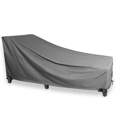 Grey Chaise Outdoor Weatherproof Heavy-Duty Patio Furniture Cover