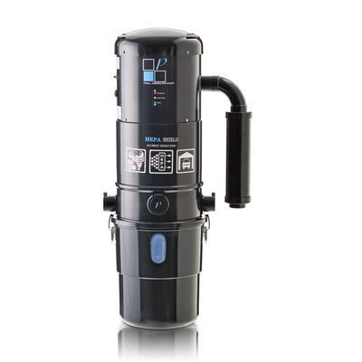 Black 2 Stage Central Vacuum Unit