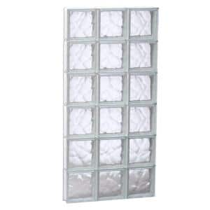 23.25 in. x 46.5 in. x 3.125 in. Frameless Wave Pattern Non-Vented Glass Block Window