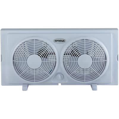 7 in. Twin Window Fan in White